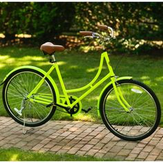 City Bike by C. Wonder and in neon green! Cute helmet sold separately...