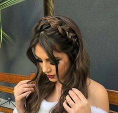 - New Site - frisuren - Wedding Hairstyles Box Braids Hairstyles, Pretty Hairstyles, Wedding Hairstyles, Homecoming Hairstyles, Evening Hairstyles, Dance Hairstyles, Clubbing Hairstyles, Hairstyle Ideas, Prom Hairstyles For Long Hair Half Up