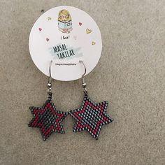 Yıldız küpelerim ⭐️ #miyuki #miyukiküpe #miyukidelica #miyukibeads #miyukidelicaboncuk #küpe #miyukiboncuk #tarz #moda #handmade #handmadejewelry #elemeği #neyaparsanyapaşkileyap #yıldızküpe