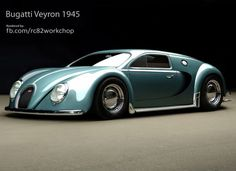 Bugatti Veyron, From The Year 1945 | not from Top Gear, but I'd love to know what they'd think of this. It's beautiful.