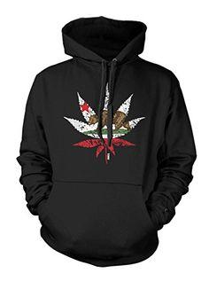 California Weed Leaf – Cali, Bear Men's Hoodie Sweatshirt