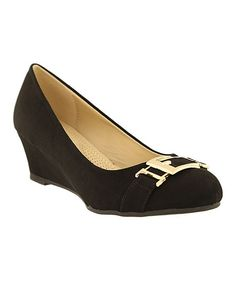 Black Wedge Pump
