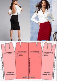 Как сшить юбку-карандаш: выкройка и пошаговый мастер класс..платья в рюшку спереди короткое в зади хвост на 7 лет, шьем сарафан для полных, выкройка сарафана на резинке,