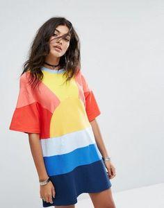 RAGYARD Festival Oversized Sunburst T-Shirt Dress