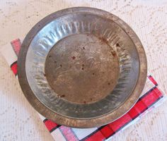 Vtg Jane Parker Pie Tin 8 Inch ~ A & P Grocery Advertising Pie Plate ~ a Vintage Touch $6.00