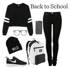 """""""Look 4: sporty chick"""" by cori-felton ❤ liked on Polyvore featuring MM6 Maison Margiela, NIKE, adidas Originals and American Eagle Outfitters"""