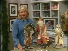 Martha Stewart walks through Bobbi Taylor's step by step process to create German inspired St. Nicholas and Santa Claus papier mache figures.   s