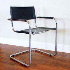 Leather Chair Chrome Frame