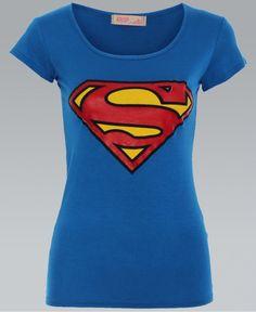 KRISP Blue Superman Print T-Shirt - KRISP from Krisp Clothing UK