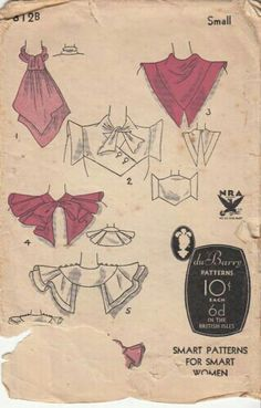 1930s collar patterns