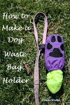 A step by step tutorial how to make a sewing machine embroidered poop(waste) bag holder that attaches to a dog's leash