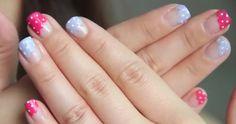 Polka nails. Tutorial