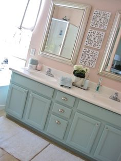 This is what vanity would look like painted and mirror removed with basic white top.