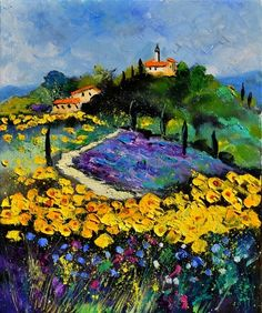 Painting of Provence by Ledent Pol