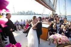 Beautiful wedding last summer on deck.