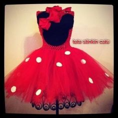 Minnie Mouse Tutu Dress by TutuStinkinCute12 on Etsy, $30.00