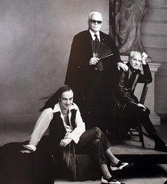 Gianni Versace, John Galliano, Karl Lagerfeld