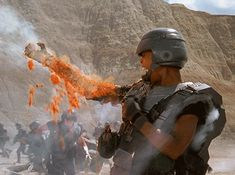 Discover & share this Starship Troopers GIF with everyone you know. GIPHY is how you search, share, discover, and create GIFs. Funny Pictures Tumblr, Tumblr Funny, Starship Troopers 1997, Science Fiction, Paul Verhoeven, Sci Fi Films, Film Inspiration, Animated Gif, Meme