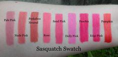Sasquatch Swatch: NYX Lipliners