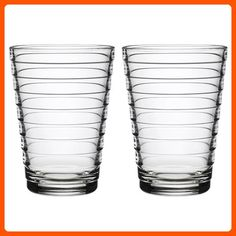 30e9e04e3d0 Iittala Aino Aalto Set of Two Glass Tumblers Water Green 11Ounce Capacity  each   Details can be found by clicking on the image.Note It is affiliate…