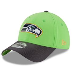 Seattle Seahawks New Era Gold Collection On Field 39THIRTY Flex Hat - Neon Green/Graphite - $29.99