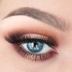Rose Gold look by Samantha using Makeup Geek's Birthday Wish pigment.
