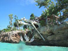 Hammocks by the sea. Paradisus Rio de Oro, Guardalavaca, Holguin, Cuba.
