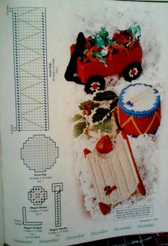 Mini toys 3-d  ornament plastic canvas  pattern 2-2