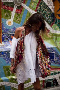 Perfect way to wear a banjara bag! Perfect summer style!