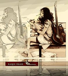 #ilustration #draw #music #guitar #rachel