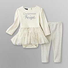 Holiday Editions- -Infant Girl's Skirted Bodysuit and Leggings So cute!
