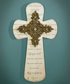 Another great find on #zulily! 'The Lord is My Shepherd' Cross Wall Décor #zulilyfinds