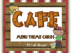"""These cards were created to use with """"The Cafe Book"""" by Gail Boushey Joan Moser. The theme used with these cards is pirates. Included in th. New Classroom, Classroom Themes, Cowboy And Cowgirl, Cowboy Theme, Western Theme, Teaching Reading, Teaching Ideas, Guided Reading, Teaching Tools"""