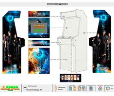 Diseños – Arcades RetroAl Arcade Machine, Final Fantasy Xv, Peter Rabbit, Running Away, Used Books, New Movies, Brides, Game, Box