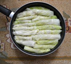 Lebanese stuffed cabbage leaves