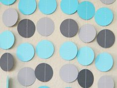 Turquoise and Grey!  Simple and easy wedding background