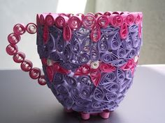 Crispy Crafts: Quilled cup!!