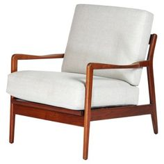 Check out this item at One Kings Lane! Midcentury Walnut Armchair