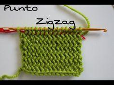 Punto Zigzag paso a paso ( Crochet ) Agujas # KNOOKINS # | Cucaditas de Saluta