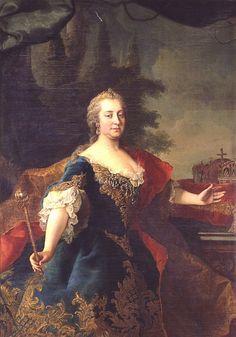 maria theresia   Martin van Meytens: Maria Theresia als ungarische Königin ...