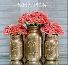 Spray painting mason jars is really easy. As in super easy. So my sharing a how to spray paint mason jars seems a bit silly …   … but, in my defense, I do have a few tips to share.   Like (1) Here's the spray paint brand I use …     And (2) …
