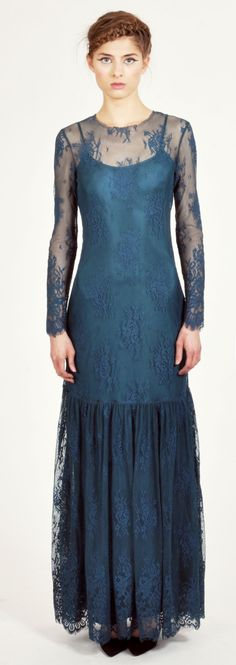 Candela Teal lace Kennedy Maxi