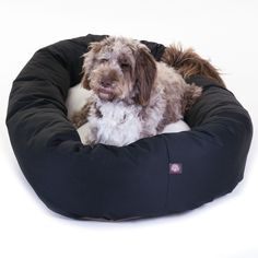 """Bagel Dog Bed By Majestic Pet Products Black 52"""" x 35"""" - X-Large"""