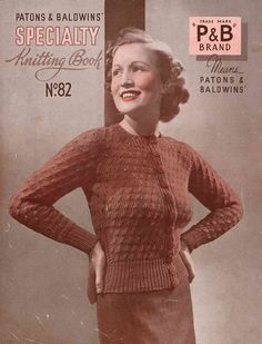 1930s Patons Speciality Knitting No.82, 10 designs c.1934 - Vintage Knitting Pattern booklet PDF