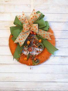 Fall Wreath, Pumpkin Wreath, Fall Burlap Wreath, Rustic Decor, Autumn Wreath, Fall Decor