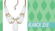 2017 Premier Designs spring collection  Blanca  Facebook.com/CiboloJewelryLady