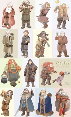 Lots of dwarves by:  http://www.pixiv.net/member_illust.php?mode=medium_id=35609323