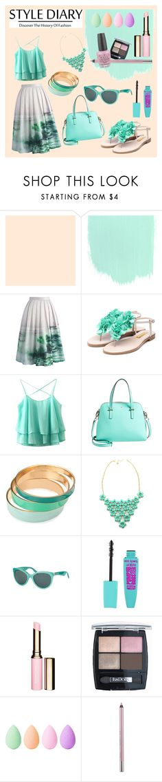 """Soft"" by caeshana on Polyvore featuring Sephora Collection, Chicwish, Rupert Sanderson, Kate Spade, Dolce&Gabbana, Clarins, Isadora, beautyblender, Urban Decay and OPI"