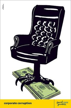 Corporate Corruption poster by Luba Lukova by Luba Lukova, via Flickr