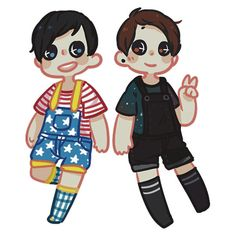 """Overalls Phan"" Stickers by Lungwort 